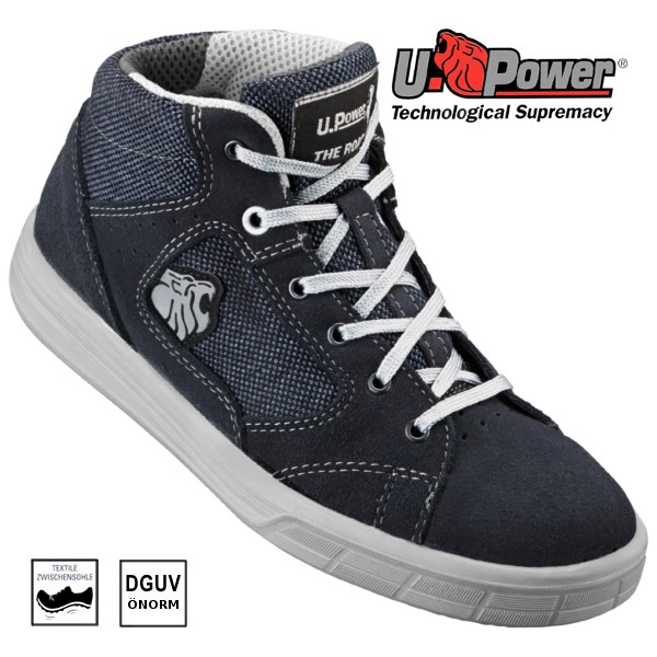 U-POWER Sneaker Blue, Sicherheits-Schnürstiefel S1P 37
