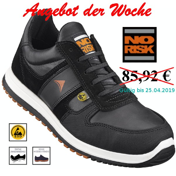 NO RISK Rider Halbschuh S3