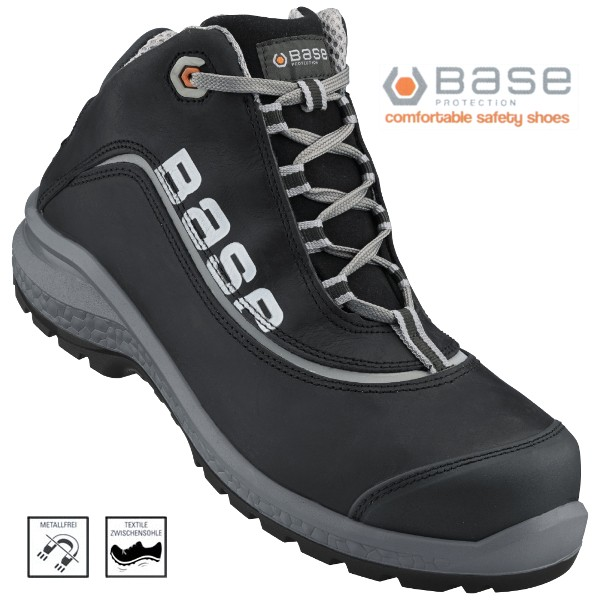 BASE Be-Free, Top Sicherheits-Schnürstiefel S3 46